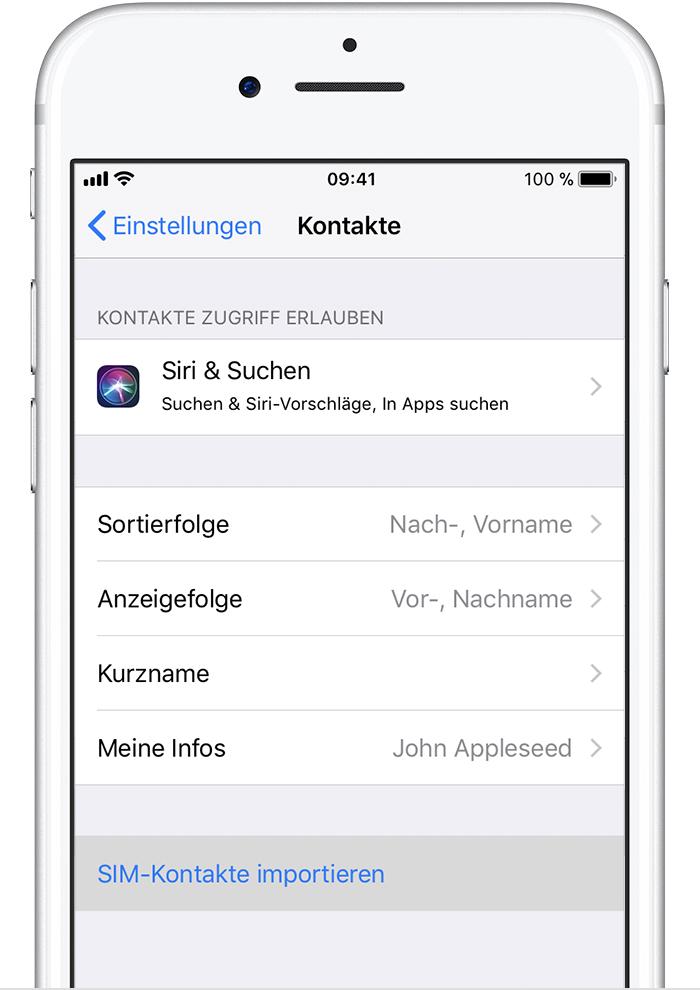 kontakte vom nokia handy auf iphone übertragen
