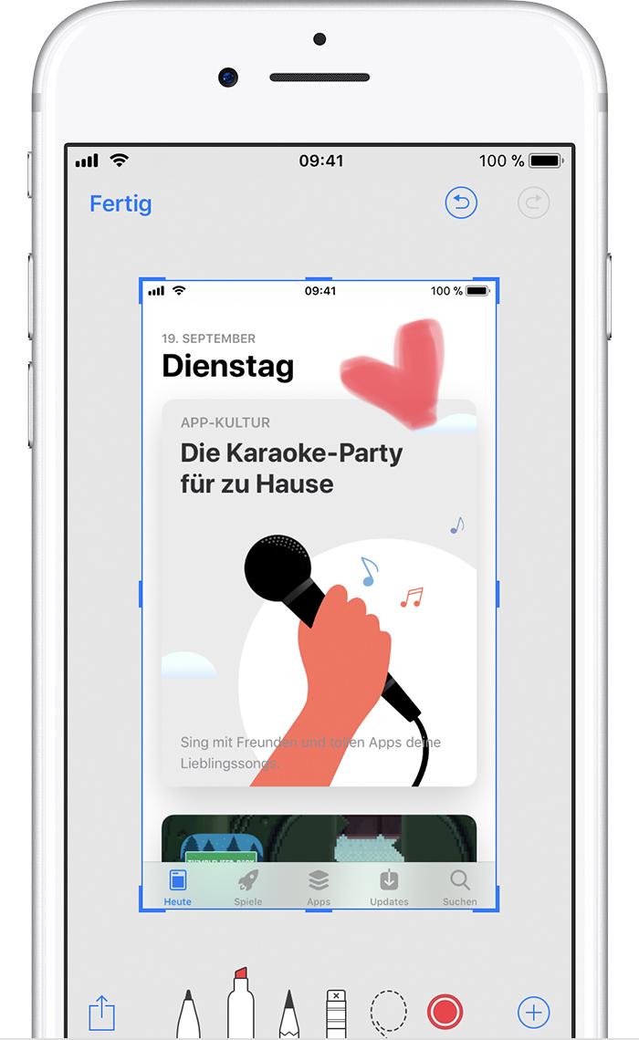 Ein Bildschirmfoto mit dem iPhone, iPad und iPod touch machen ...