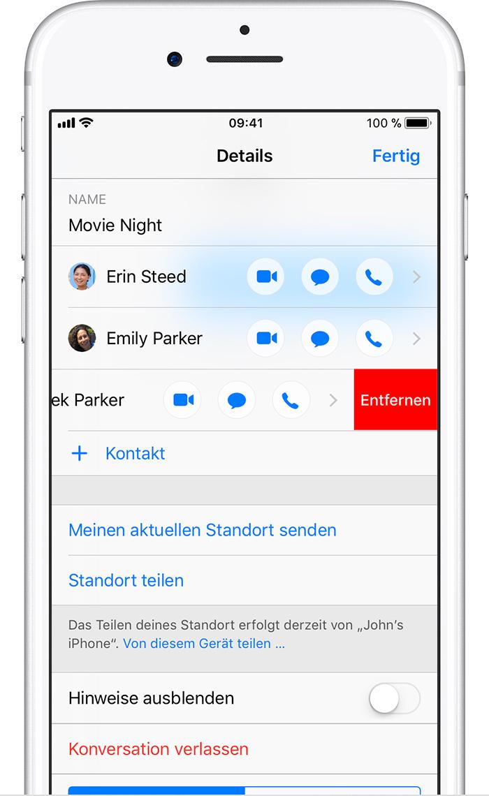 App zum Ausblenden von Textnachrichten