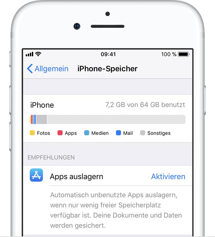 iphone 6s speicherplatz anzeigen