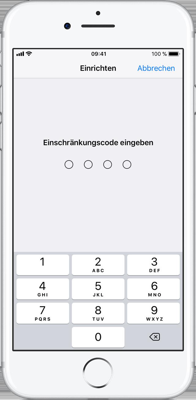 Wie man den Passcode auf den Beschränkungen iphone ändert