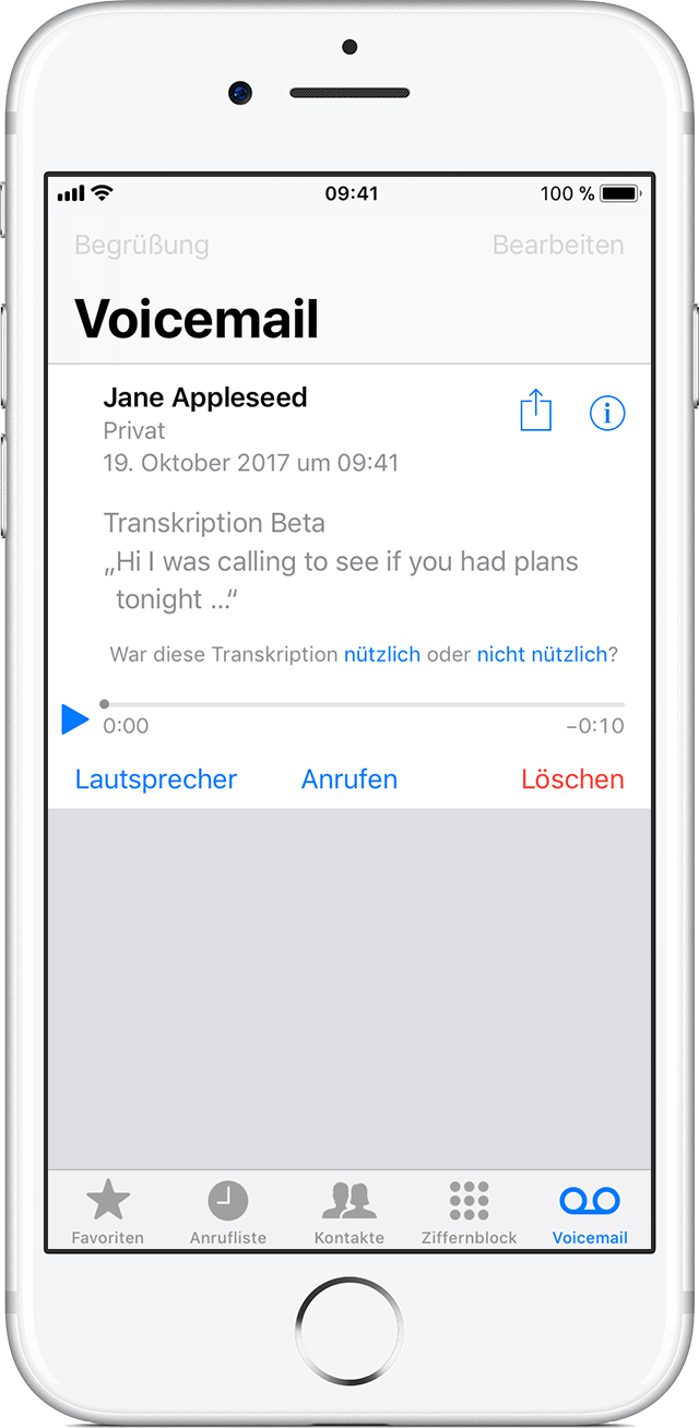 how to get visual voicemail on iphone visual voicemail nachrichten auf dem iphone sichern 20120
