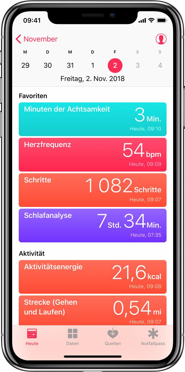 iphone health app daten löschen