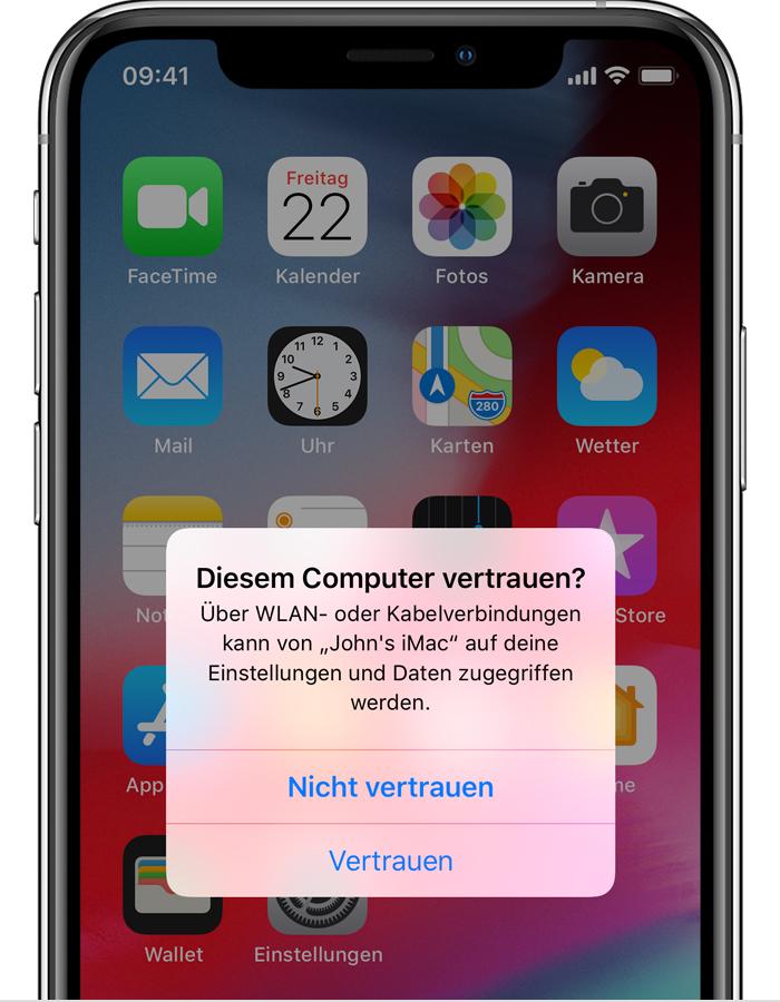 Iphone Pc Vertrauen