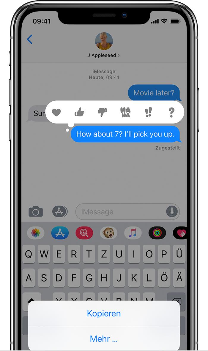 Iphone Nachrichten Effekte