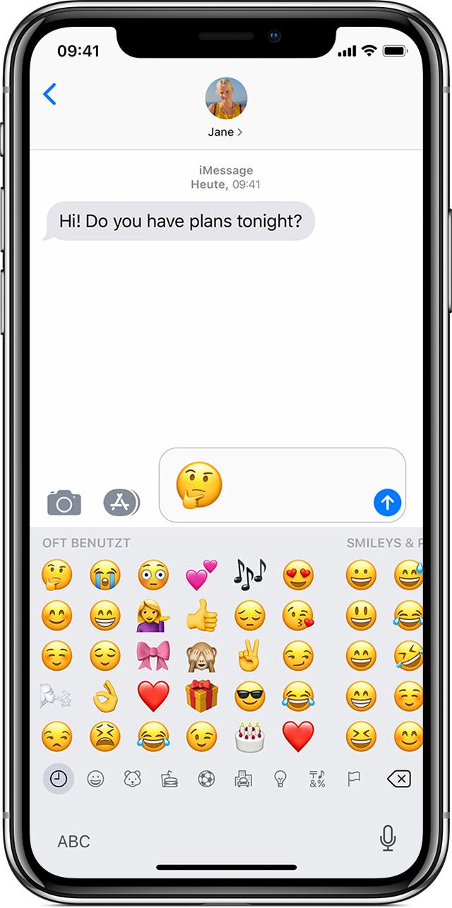 Emojis Auf Dem Iphone Ipad Und Ipod Touch Verwenden Apple Support