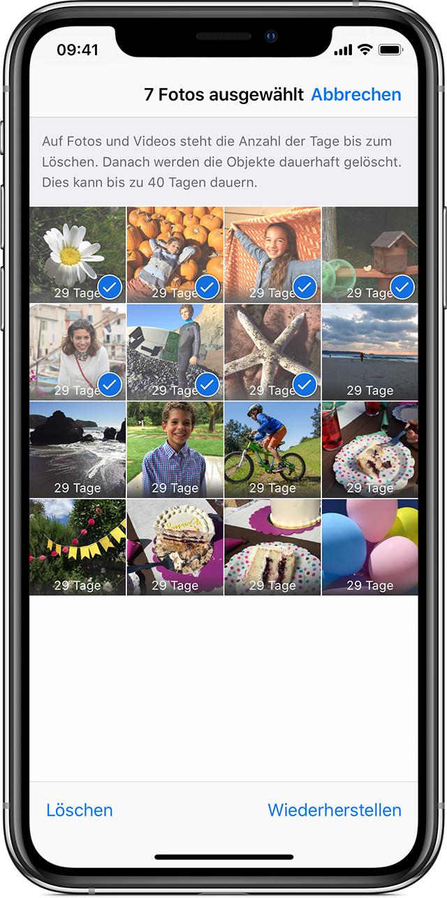 Unterstützung zu fehlenden Fotos erhalten - Apple Support