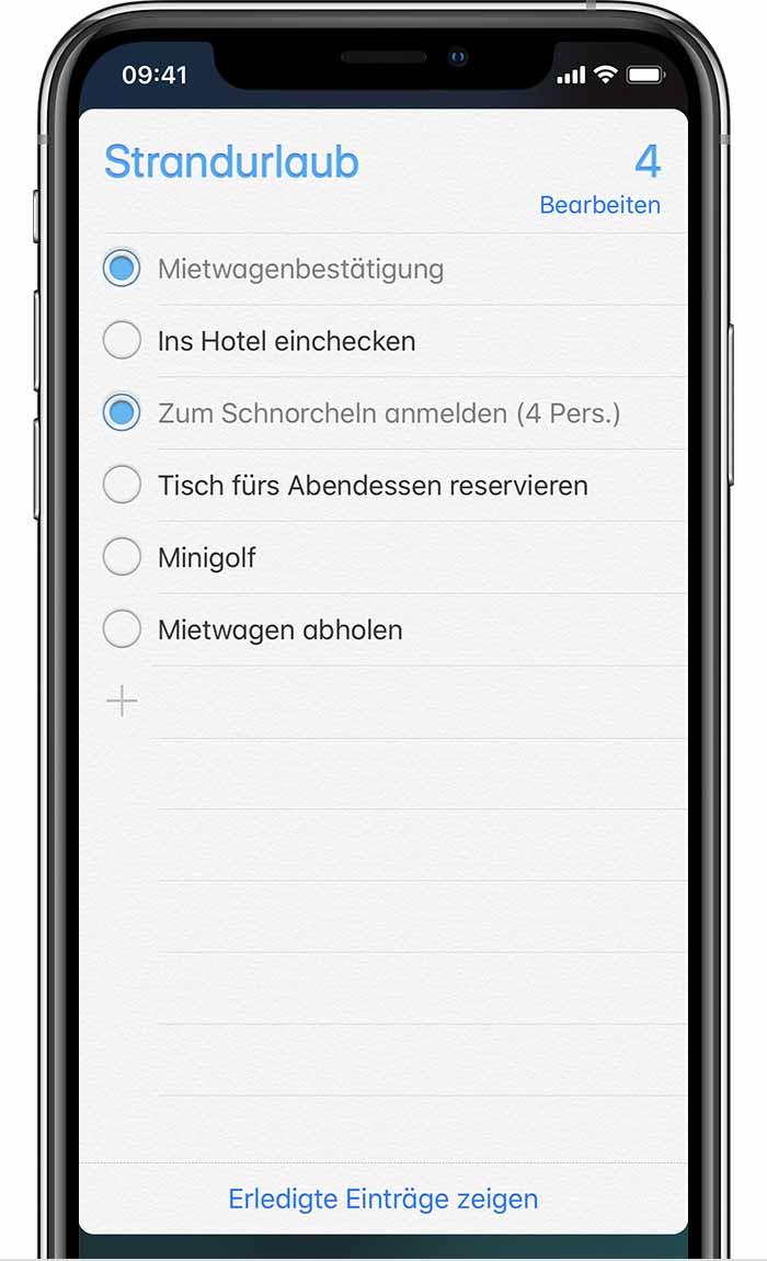 iphone erinnerungen liste löschen