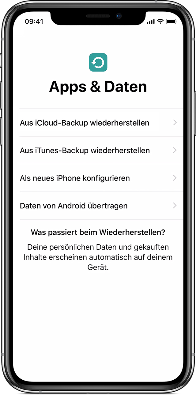neues iphone konfigurieren fotos