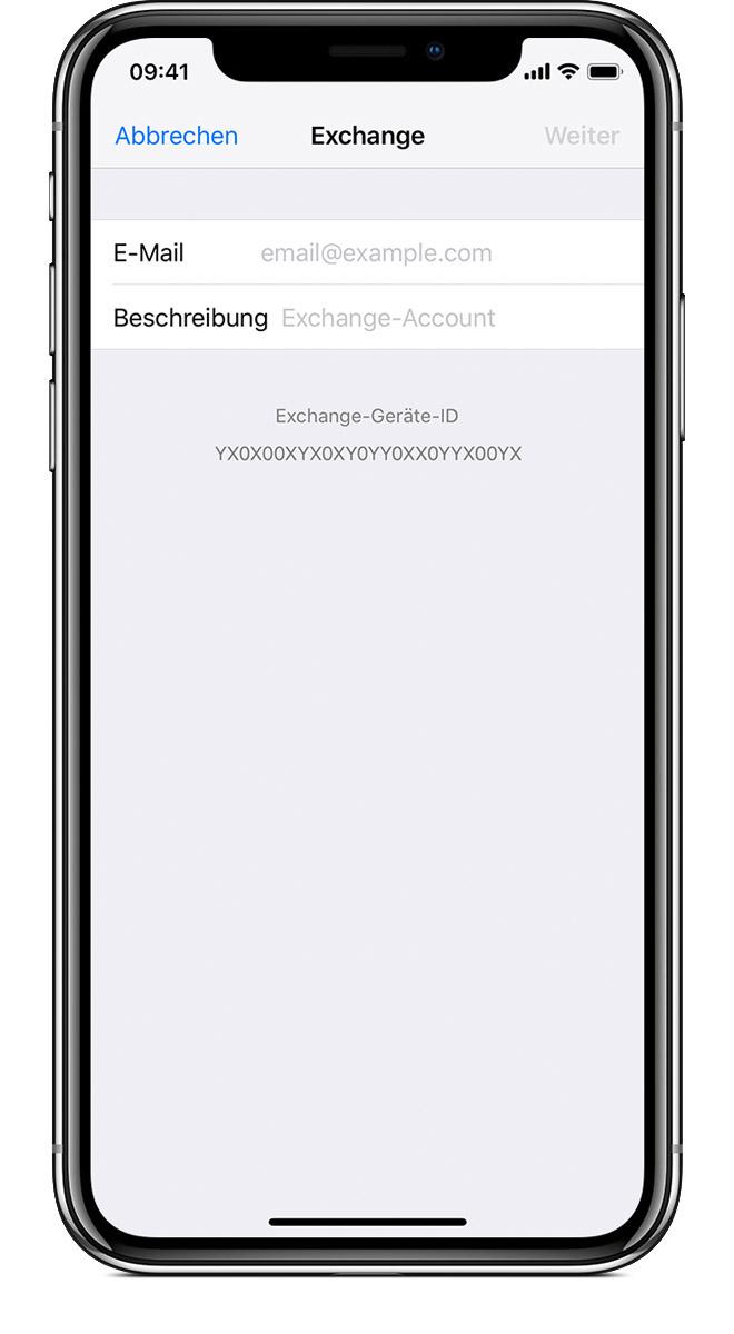 Neuen account auf iphone einrichten