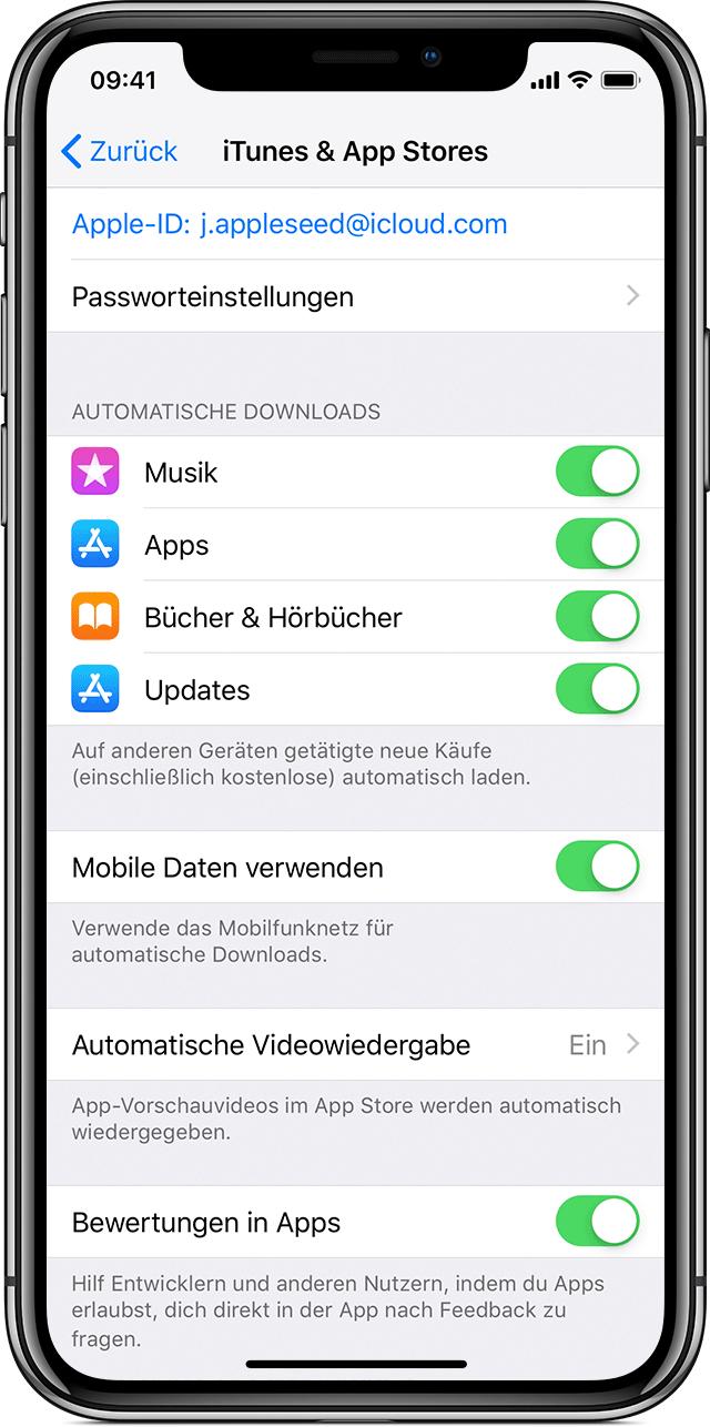 App Store Automatische Updates