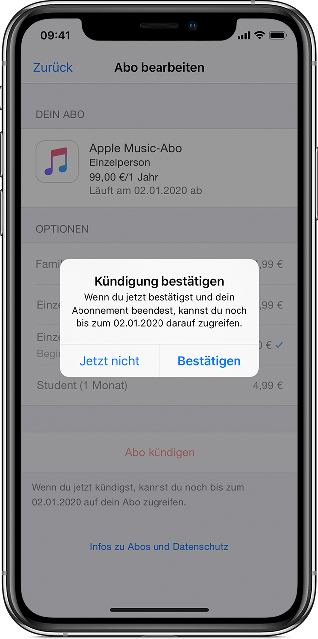 Apple Music Abonnement Verwalten Apple Support