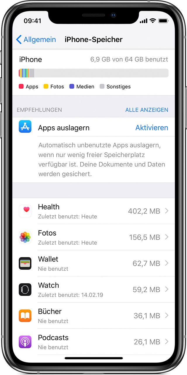Tipp 2: iCloud Speicher Voll - unnötige Daten löschen