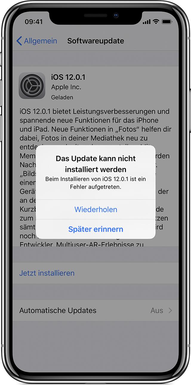 iphone 4 aktualisieren geht nicht