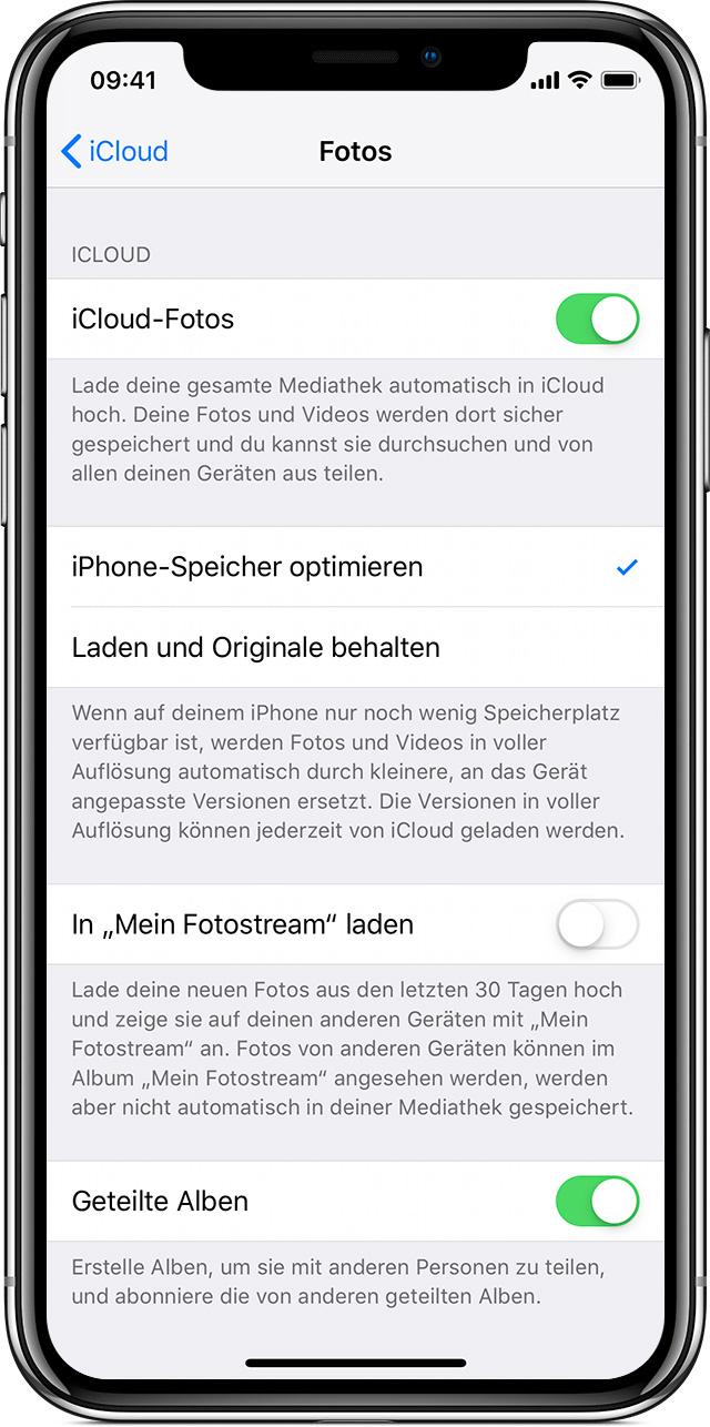 Icloud Fotos Einrichten Und Verwenden Apple Support