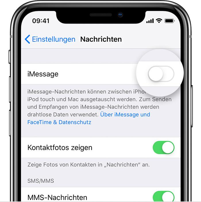 Anschließend bekommen Sie die MMS-Konfiguration als Daten-SMS zugesandt.