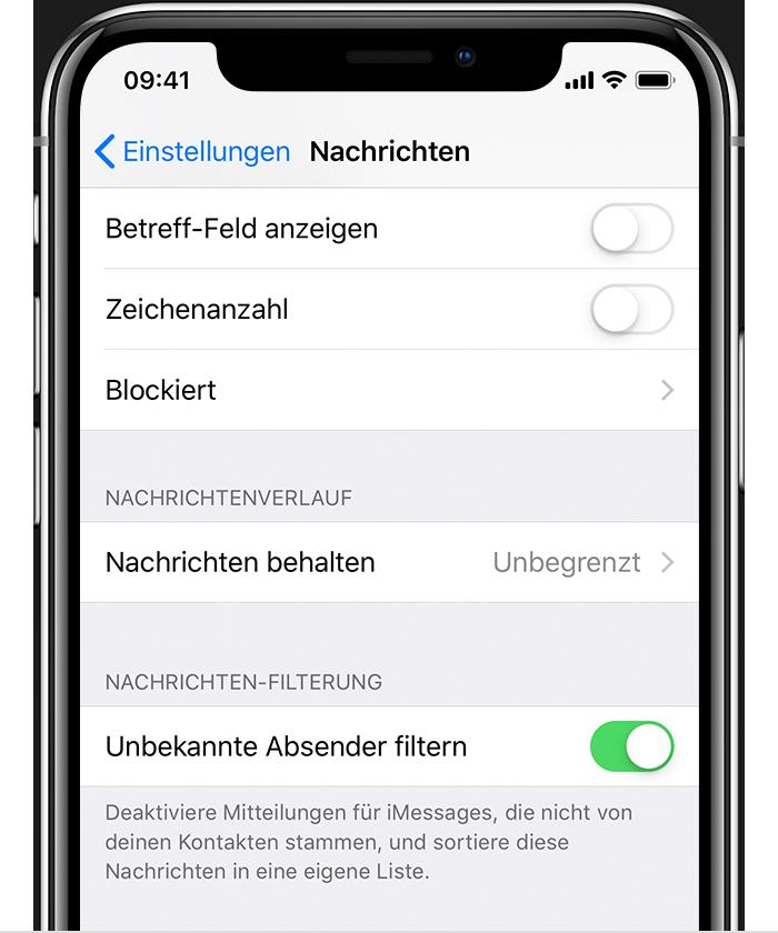 Eine Nummer auf dem iPhone blockieren
