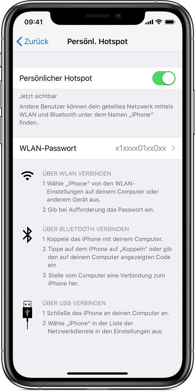 Einen Persönlichen Hotspot Auf Ihrem Iphone Oder Ipad Einrichten