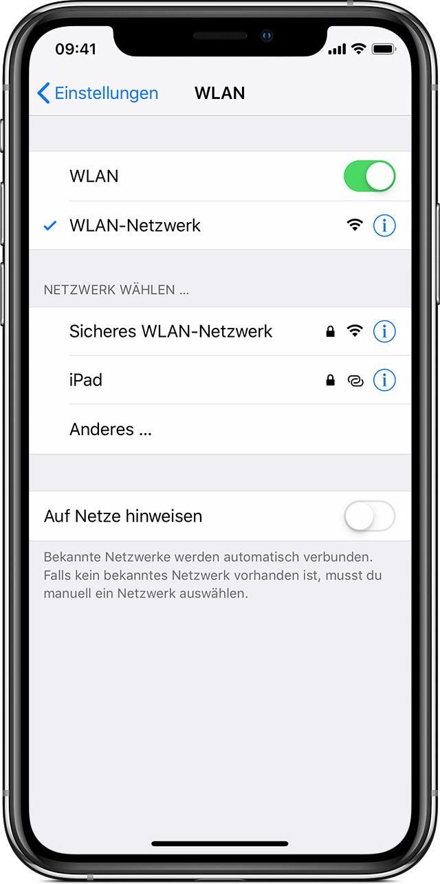 Wlan Verbindung Auf Dem Iphone Ipad Oder Ipod Touch Herstellen