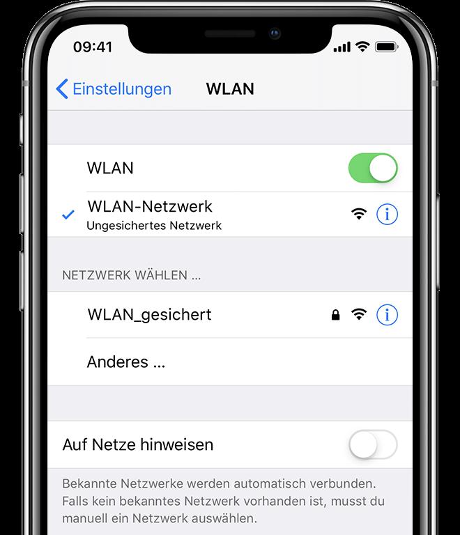 Keine Verbindung Zu Einem Wlan Netzwerk Auf Dem Iphone Ipad Oder