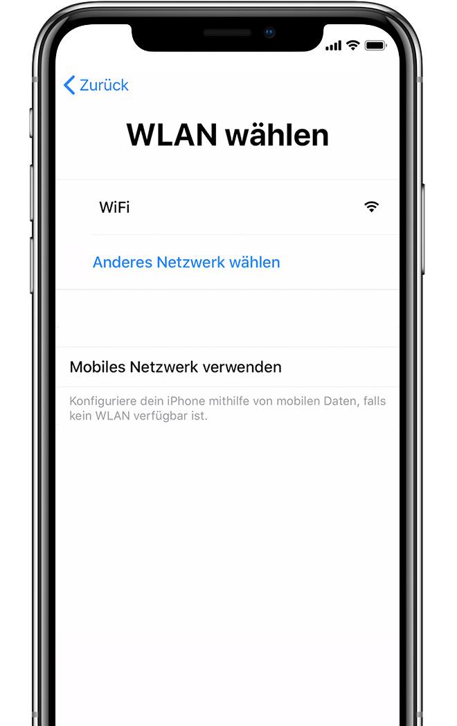Iphone neu aufsetzen code