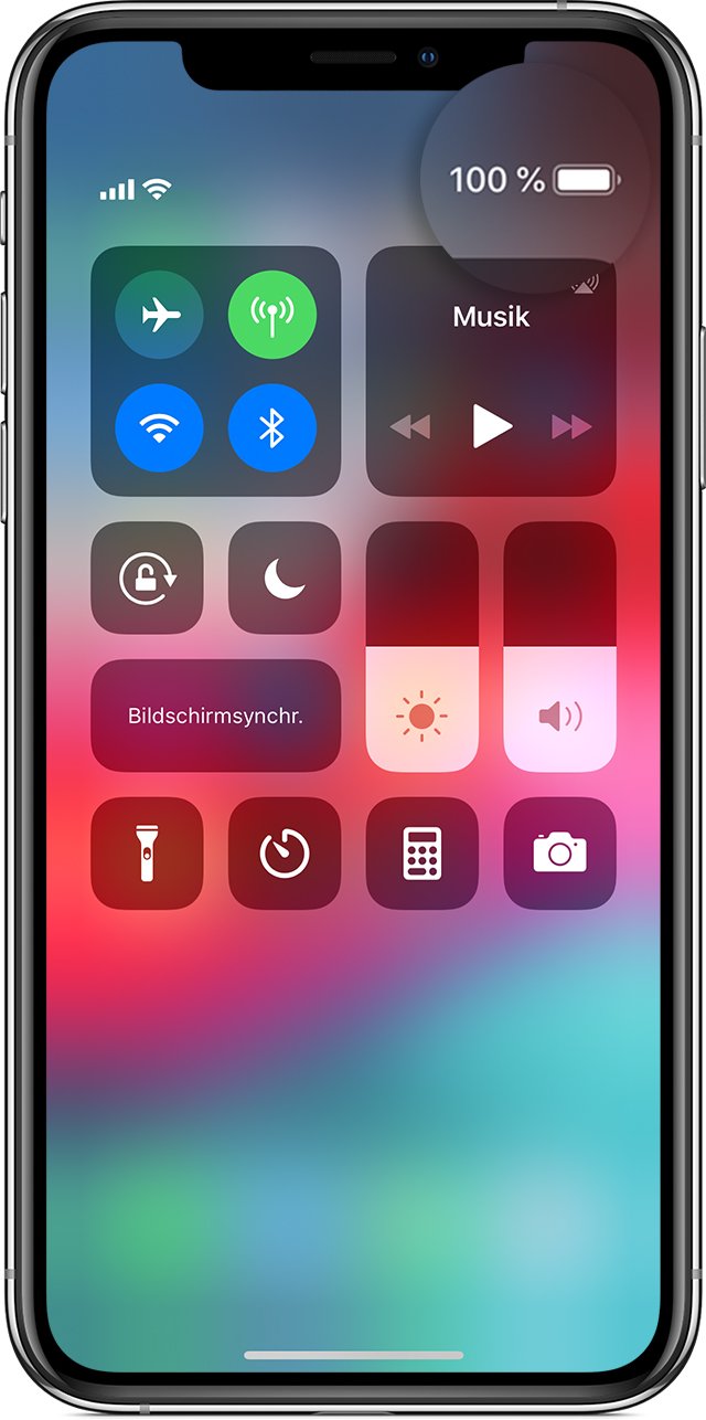 Iphone X Batterie In Prozent