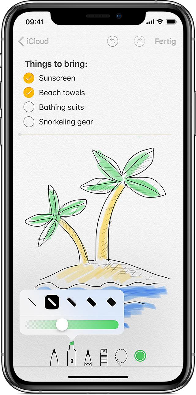 in der notizen app auf dem iphone ipad oder ipod touch. Black Bedroom Furniture Sets. Home Design Ideas