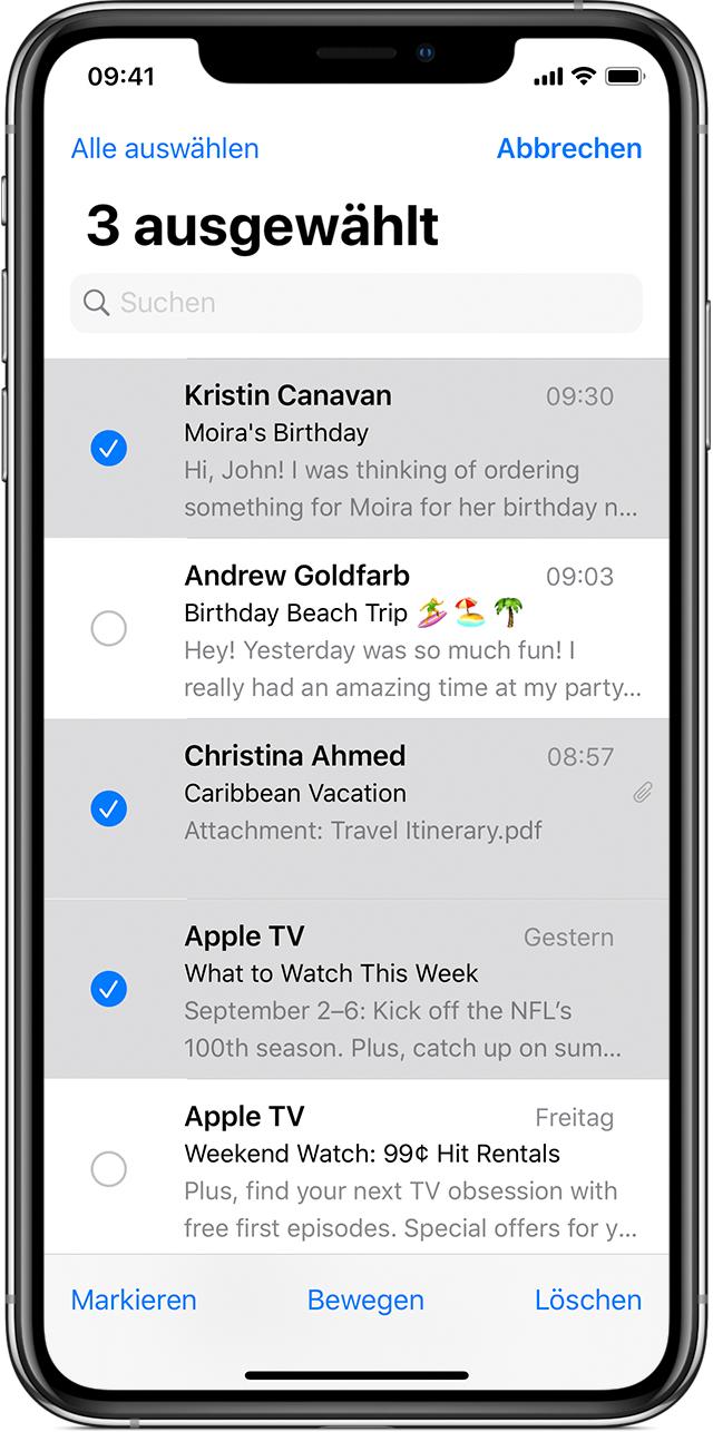 E Mails Auf Dem Iphone Ipad Und Ipod Touch Loschen Apple Support