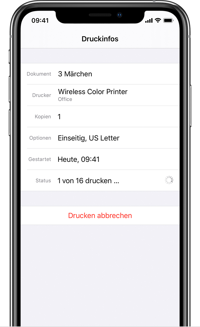 Mit AirPrint vom iPhone, iPad oder iPod touch drucken - Apple Support