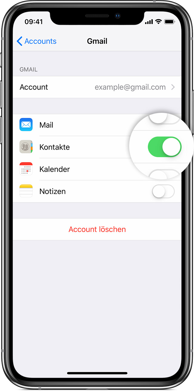 Kontakte Auf Deinem Iphone Ipad Oder Ipod Touch Verwalten Und Loschen Apple Support