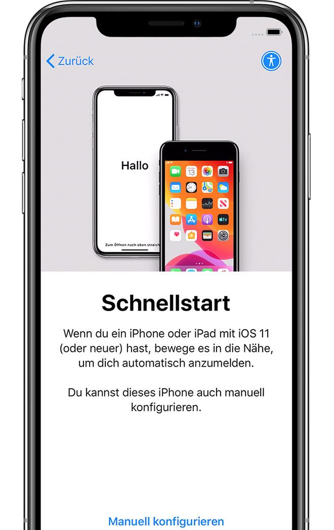 Iphone 11 einrichten