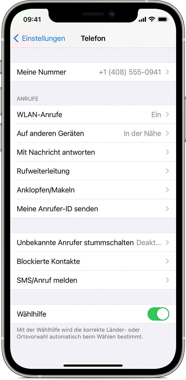 WLAN Anrufe tätigen   Apple Support DE