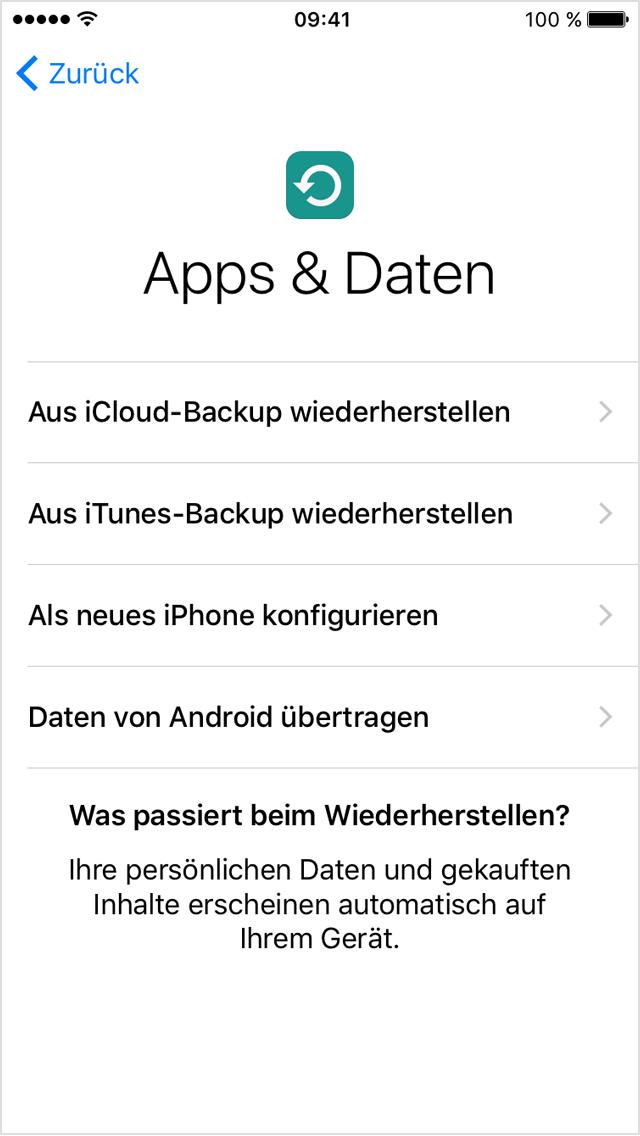 Neues Iphone Aus Icloud Backup Herstellen