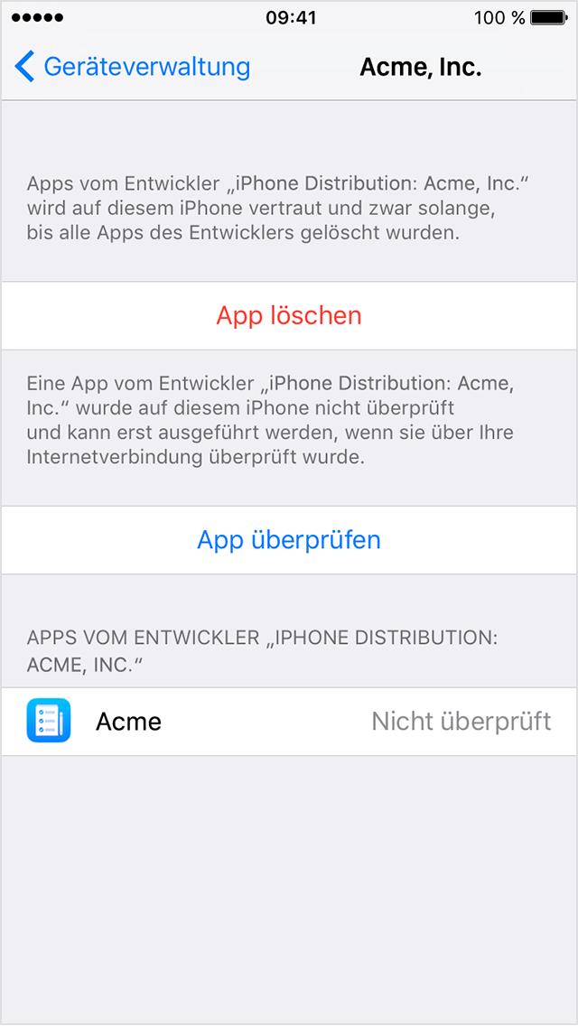 Benutzerdefinierte Unternehmens-Apps unter iOS installieren - Apple ...