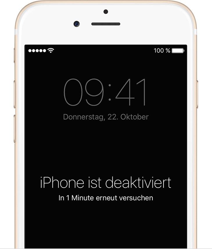 Apple Iphone Deaktiviert
