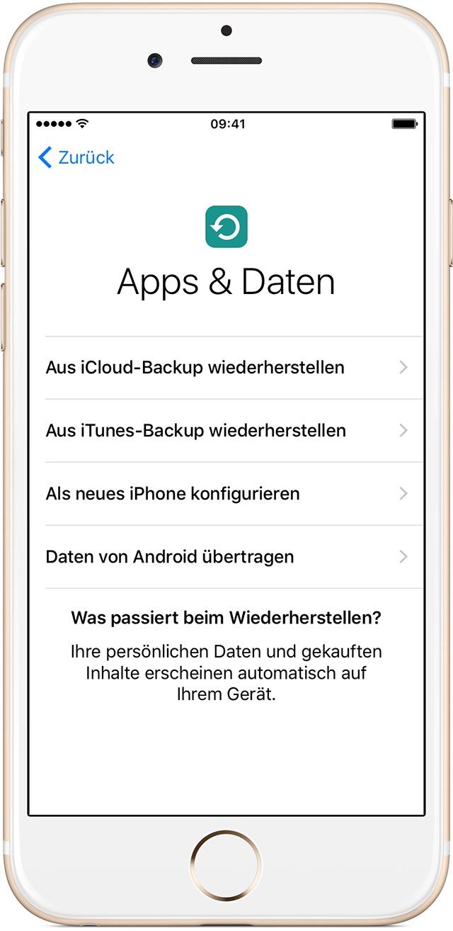 Neues ipad aus iphone backup wiederherstellen