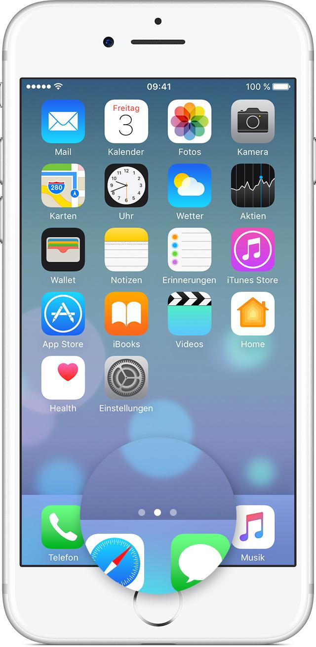 Apple Iphone  Apps Verschieben