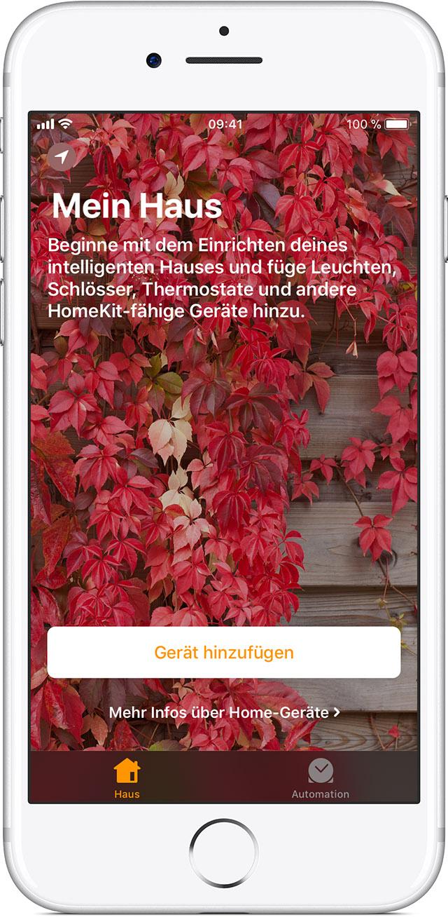Verwendung der Home-App auf dem iPhone, iPad und iPod touch - Apple ...