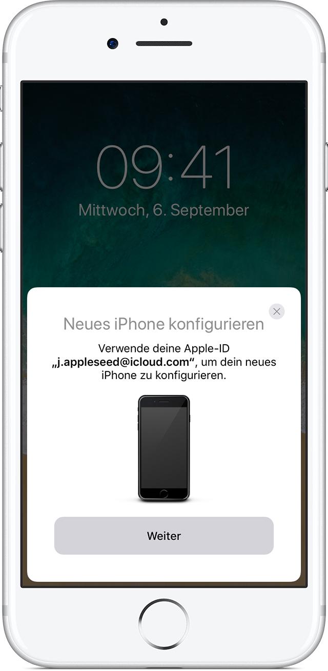 altes iphone komplett auf neues übertragen