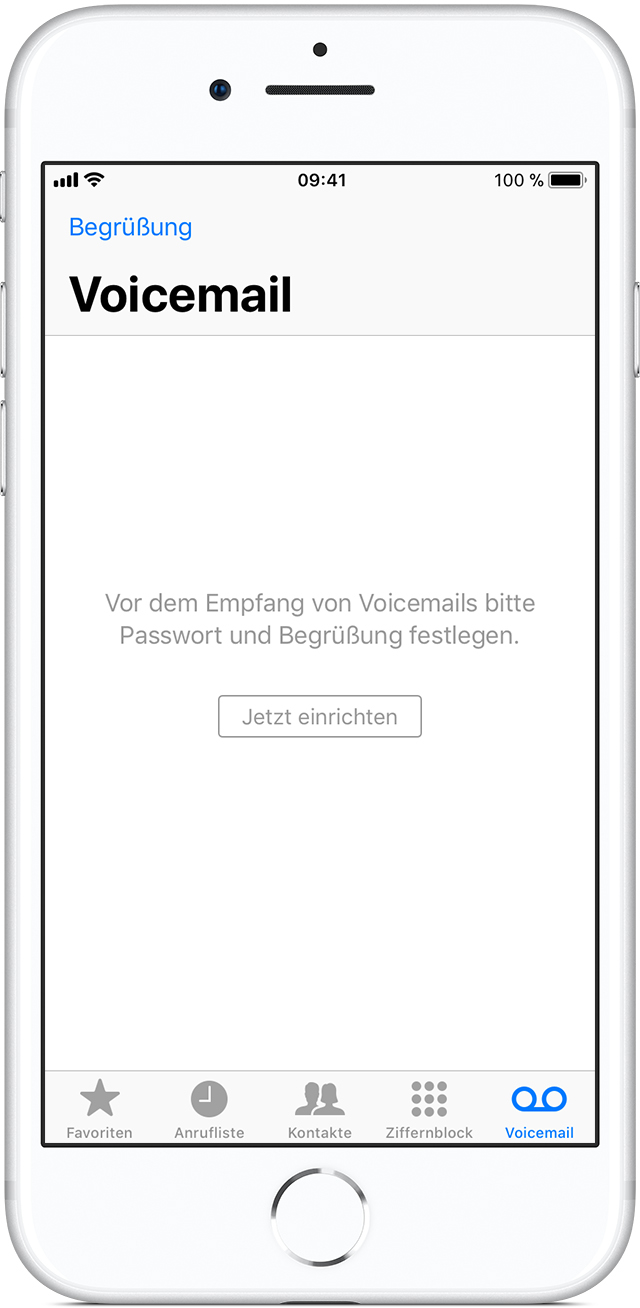 visual voicemail auf dem iphone einrichten apple support. Black Bedroom Furniture Sets. Home Design Ideas