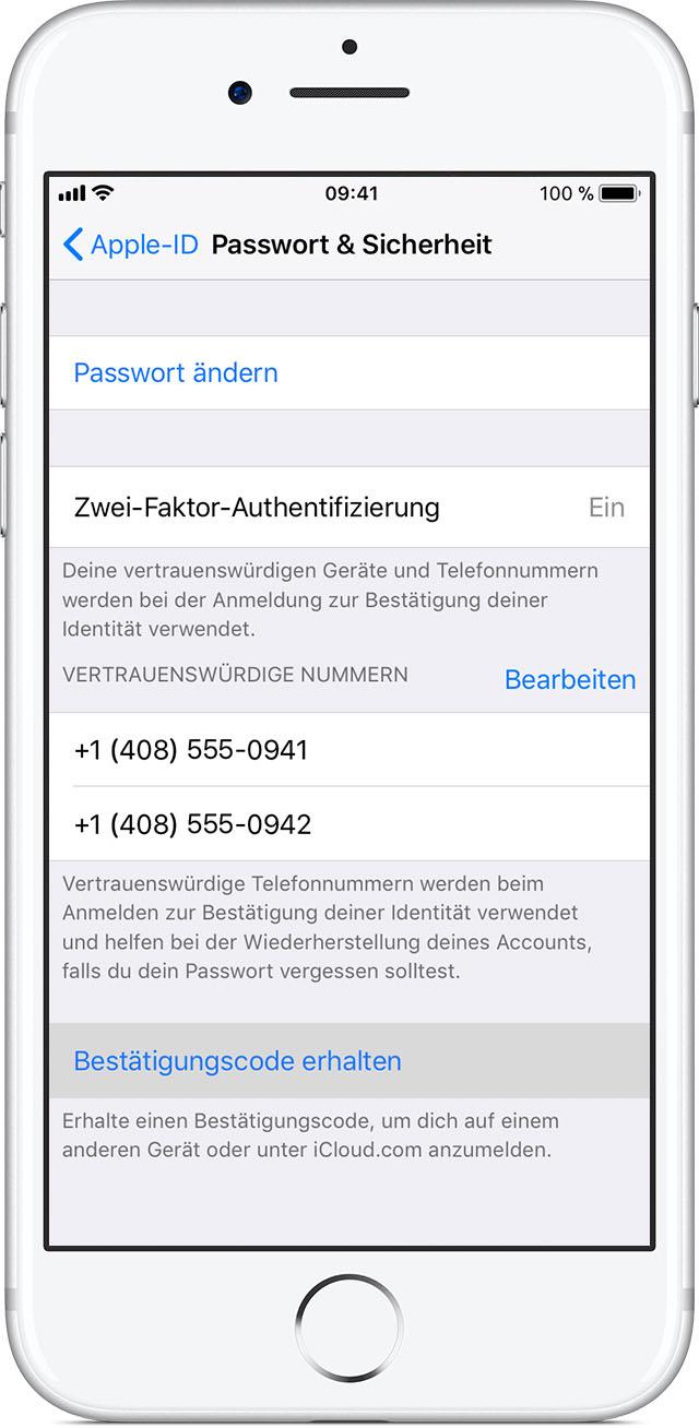Apple VertrauenswГјrdige Telefonnummer Г¤ndern