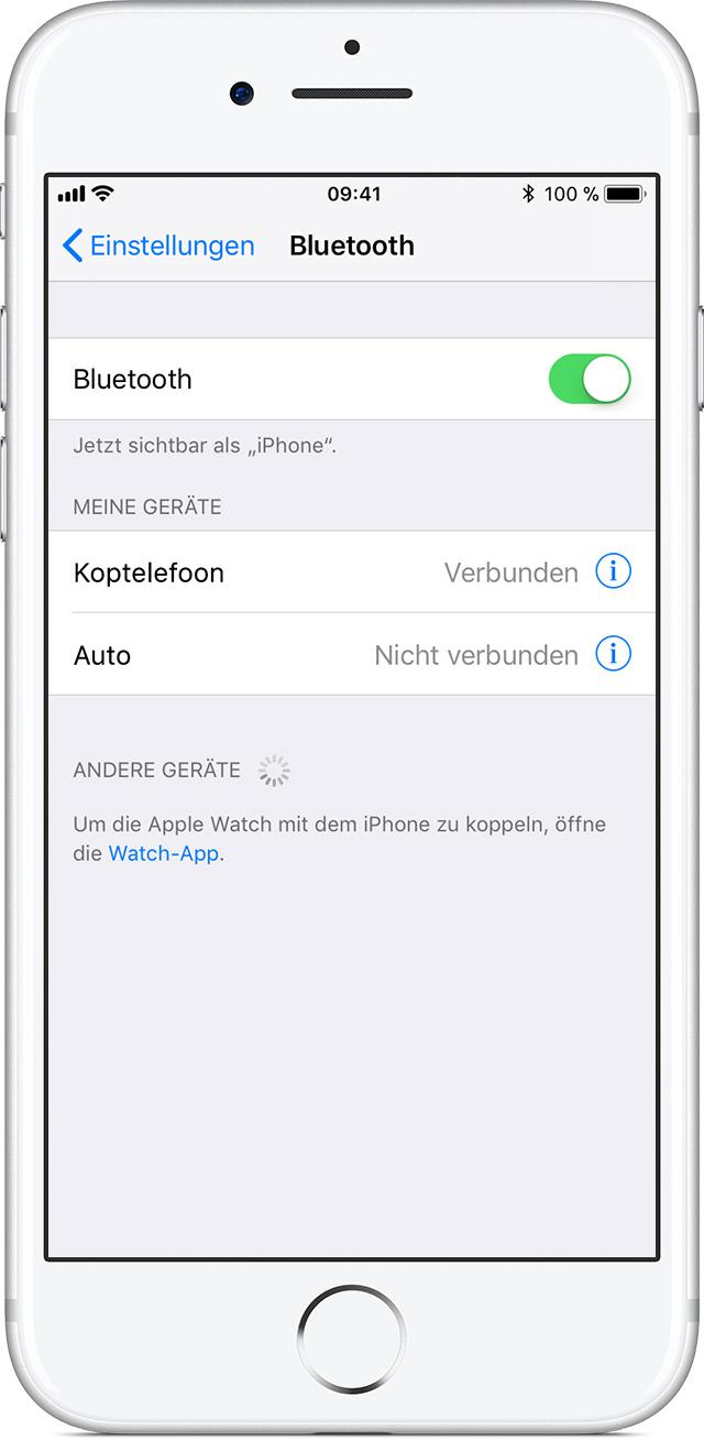 Bluetooth-Zubehör von Drittanbietern mit dem iPhone, iPad oder ...