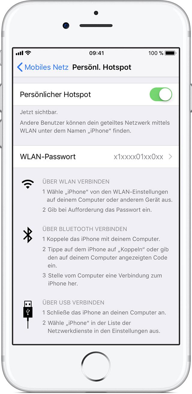 Einen persönlichen Hotspot auf Ihrem iPhone oder iPad einrichten ...