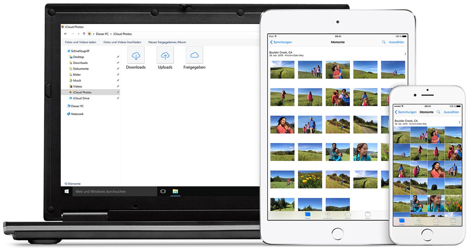 icloud fotomediathek auf ihrem windows pc einrichten und verwenden apple support. Black Bedroom Furniture Sets. Home Design Ideas