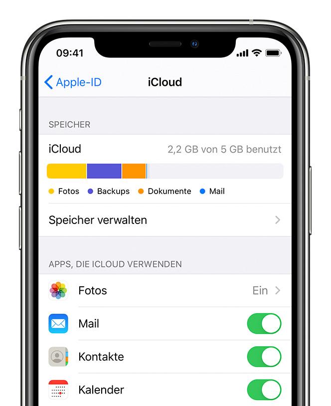 iCloud auf dem iPhone, iPad oder iPod touch einrichten - Apple Support