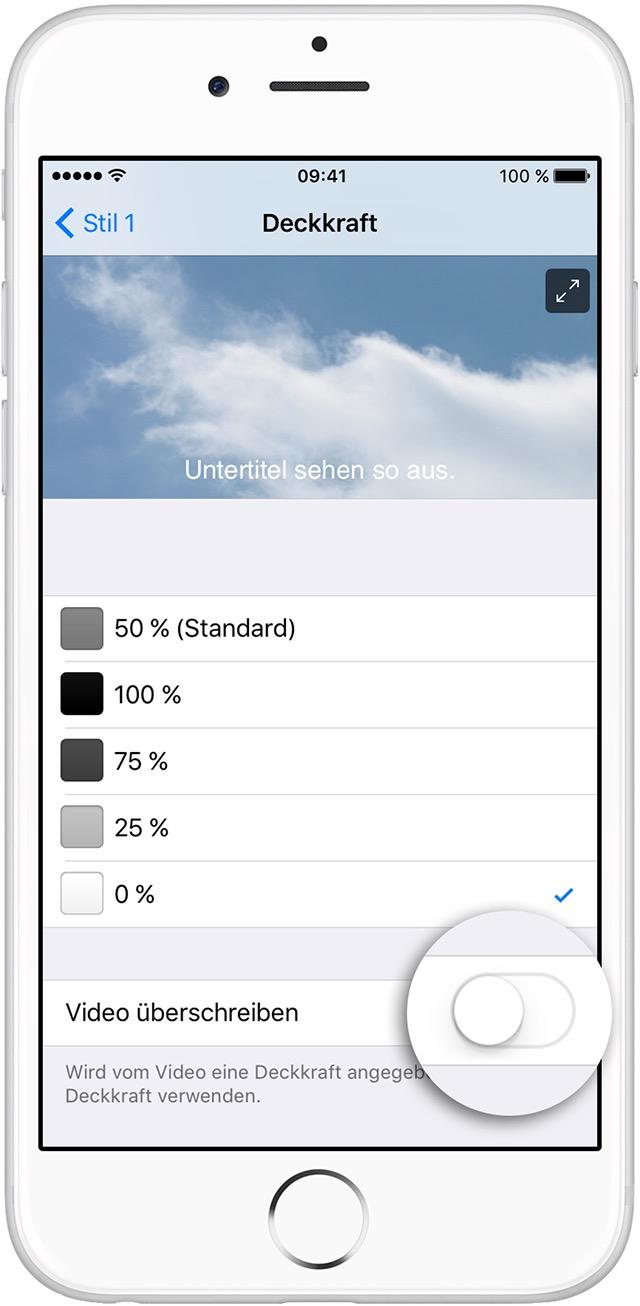 Untertitel und erweiterte Untertitel auf dem iPhone, iPad ...