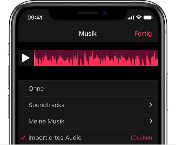 Garageband Song In Ein Clips Video Einfugen Apple Support