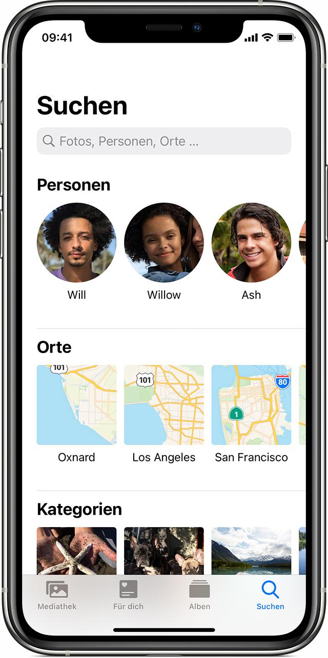 Fotos Auf Deinem Iphone Ipad Oder Ipod Touch Organisieren Und Finden Apple Support
