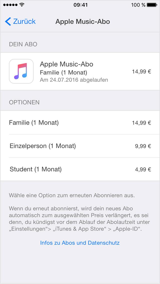 Abonnements anzeigen, ändern oder kündigen - Apple Support