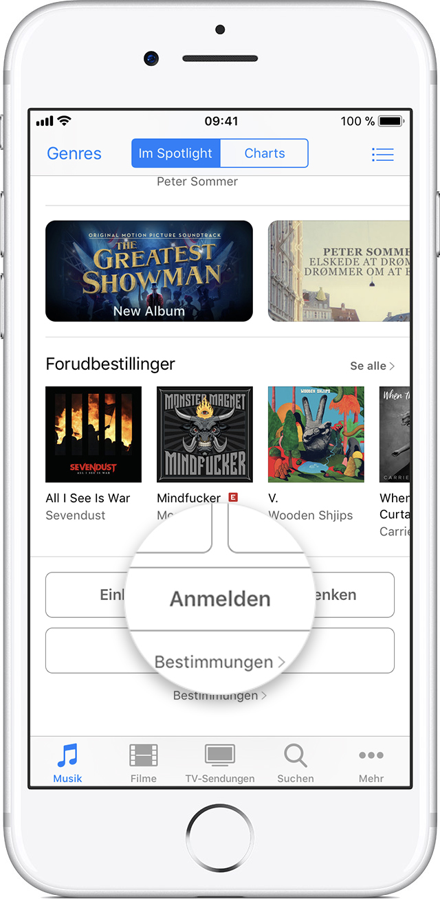 apple id f r den itunes store app store ibooks store apple music und apple news einrichten. Black Bedroom Furniture Sets. Home Design Ideas